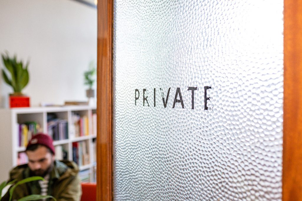 Private Sign on a Door