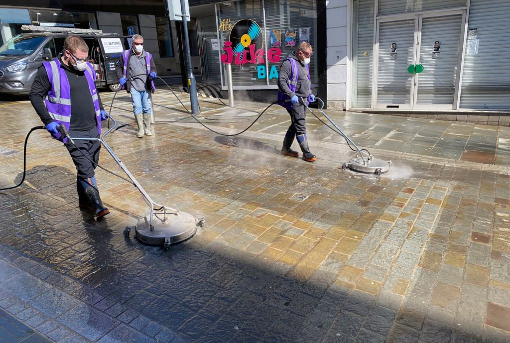Bradford streets being cleaning